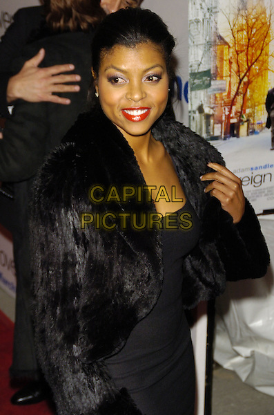 "TARAJI HENSON .Premiere of Sony Pictures ""Reign Over Me"" Skirball Center at NYU, 566 La Guardia Place, New York, New York, USA..March 20th, 2007.half length dress fur jacket .CAP/ADM/BL.©Bill Lyons/AdMedia/Capital Pictures *** Local Caption ***"
