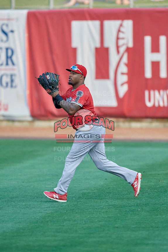 BJ Boyd (9) of the Nashville Sounds during the game against the Salt Lake Bees at Smith's Ballpark on July 27, 2018 in Salt Lake City, Utah. The Bees defeated the Sounds 8-6. (Stephen Smith/Four Seam Images)