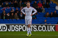 Wednesday 05 March 2014<br /> Pictured: Gareth Bale <br /> Re: International friendly Wales v Iceland at the Cardiff City Stadium, Cardiff,Wales UK