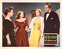 All About Eve (1950)<br /> Lobby card with Marilyn Monroe, Anne Baxter, Bette Davis &amp; George Sanders<br /> *Filmstill - Editorial Use Only*<br /> CAP/KFS<br /> Image supplied by Capital Pictures