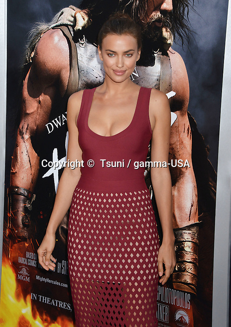 Irina Shayk  at the Hercules Premiere at the TCL Chinese Theatre in Los Angeles.