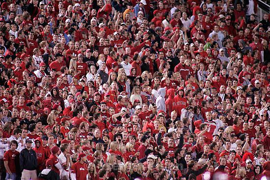 fans.  University of Utah vs. Utah State University college football Saturday night at Rice-Eccles Stadium in Salt Lake City.<br />