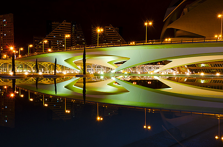 """Ciudad de las Artes y de las Ciencias"", Valencia, Spain. Part of the series that won First Prize in ""Night Photography"" category, and Second Prize in ""Architecture: Bridges"" category, 2011 International Photography Awards, Non-professional."
