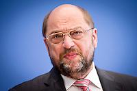 Der Präsident des Europäischen Parlamentes Martin Schulz gibt am Montag (05.05.14) in Berlin in der Bundespressekonferenz eine Pressekonferenz zur Europawahl.