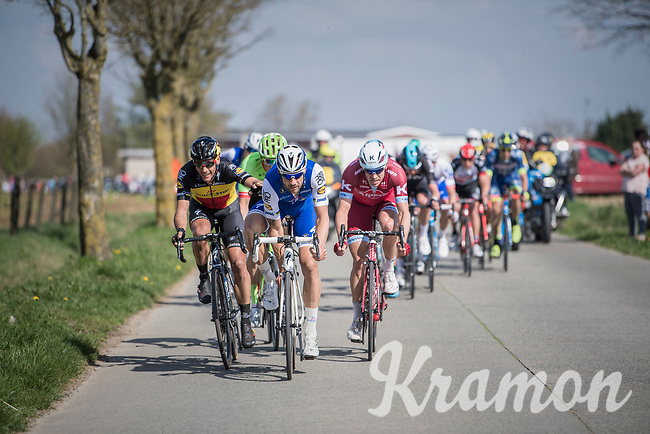 Tom Boonen (BEL/Quick-Step Floors) &amp; Philippe Gilbert (BEL/Quick Step floors) set the pace in the leaders group<br /> <br /> 101th Ronde Van Vlaanderen 2017 (1.UWT)<br /> 1day race: Antwerp &rsaquo; Oudenaarde - BEL (260km)