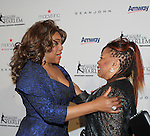 Host Mary Wilson of the Supremes poses with singer Valerie Simpson (of Ashford & Simpspn) at The 11th Annual Skating with the Stars Gala - a benefit gala for Figure Skating in Harlem hosted by Mary Wilson of the Supremes on April 11, 2016 on Park Avenue in New York City, New York with many Olympic Skaters and Celebrities. (Photo by Sue Coflin/Max Photos)