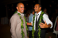 Haleiwa Hawaii, (Monday December 6, 2010) .Monday, Kelly Slater (USA) and Fred Patacchia (USA).   40th annual SURFER Poll Awards were held tonight at Turtle Bay Resort on Oahu's North Shore..Sal Masekela (USA)  returned to serve as the Master of Ceremonies for the event with charismatic Hawaiian surf star Fred Patacchia as co-host .This year's SURFER Poll Awards were held in honor of recently lost legend, three-time World Champion Andy Irons. While acknowledging all of the surfers lost this year, the event  put a heavy focus on Andy and the legacy he leaves behind in and out of the water. Another focal point of this year's show was  Kelly Slater's 10th world title win. Touted as the world's most dominant athlete, Kelly's accomplishments have catapulted the sport of surfing and garnered the world's attention. Kelly was award the male Surfer of the Year award with Stephanie Gilmore (AUS) taking out the Female Surfer of the Year..Photo: joliphotos.com