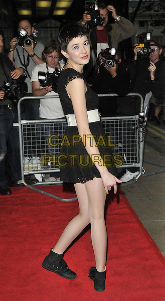 Sophie Wu.'Perfect Sense' film UK premiere held at the Curzon Soho - Arrivals.London, England..October 4th, 2011.full length dress white belt side.CAP/CAN.©Can Nguyen/Capital Pictures.