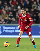 Adam Lallana of Liverpool during the Premier League match between Swansea City and Liverpool at the Liberty Stadium, Swansea, Wales on 22 January 2018. Photo by Mark Hawkins / PRiME Media Images.