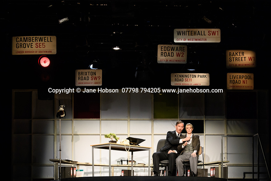 """The Knowledge"", written by Jack Rosenthal and directed by Maureen Lipman, opens at the Charing Cross Theatre. Picture shows: Steven Pacey (Mr Burgess), Louise Callaghan (Miss Stavely)"