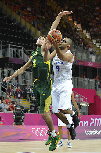 02.08.2012. London, England.  Tony Parker France Basketball  France vs  Lithuania  London 2012 Olympic Games