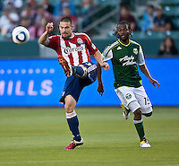 CARSON, CA – June 3, 2011: Chivas USA midfielder Heath Pearce during the match between Chivas USA and Portland Timbers at the Home Depot Center in Carson, California. Final score Chivas USA 1, Portland Timbers 0.