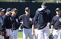 Hiroki Kuroda, Masahiro Tanaka (Yankees),<br /> FEBRUARY 16, 2014 - MLB :<br /> New York Yankees spring training camp in Tampa, Florida, United States. (Photo by AFLO)