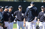 Hiroki Kuroda, Masahiro Tanaka (Yankees),<br /> FEBRUARY 16, 2014 - MLB :<br /> New York Yankees spring training camp in Tampa, Florida, United States. (Photo by AFLO)
