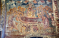 Picture & image the interior medieval frescoes of the Assumption or Dormition of the Virgin Mary, Khobi Georgian Orthodox Cathedral, 13th century,  Khobi Monastery, Khobi, Georgia.