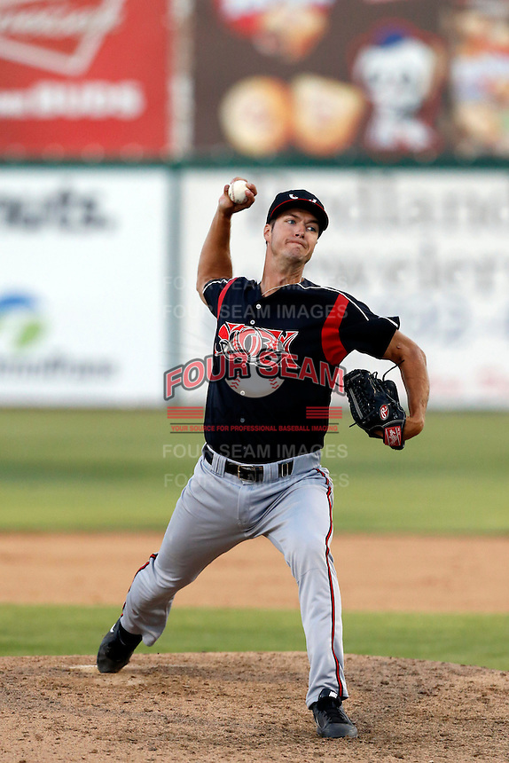 Colin Rea #29 of the Lake Elsinore Storm pitches against the Inland Empire 66'ers at San Manuel Stadium on June 23, 2013 in San Bernardino, California. Lake Elsinore defeated Inland Empire, 6-2. (Larry Goren/Four Seam Images)