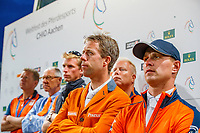 Team Netherlands during the Mercedes-Benz CSIO5* Nationenpreis. 2019 GER-CHIO Aachen Weltfest des Pferdesports. Thursday 18 July. Copyright Photo: Libby Law Photography