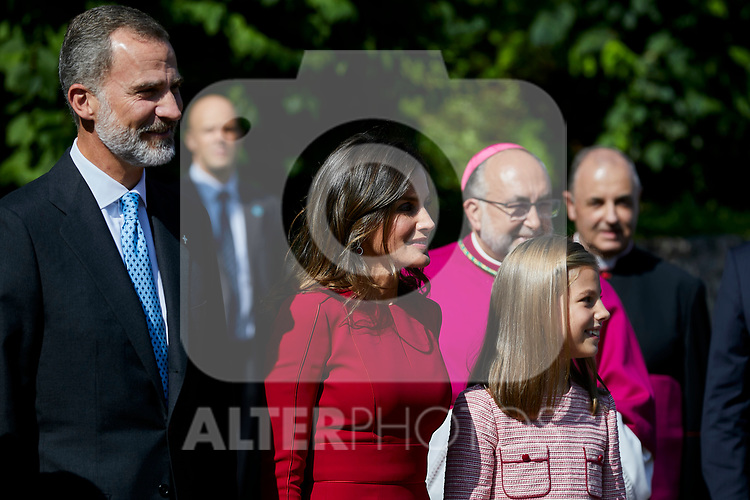 King Felipe VI of Spain, Queen Letizia of Spain and Princess Sofia of Spain visit Covadonga, Spain. September 08, 2018. (ALTERPHOTOS/A. Perez Meca)