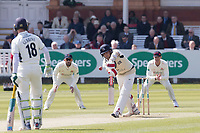 Stephen Eskinazi of Middlesex CCC gets hit high in front  during Middlesex CCC vs Lancashire CCC, Specsavers County Championship Division 2 Cricket at Lord's Cricket Ground on 11th April 2019