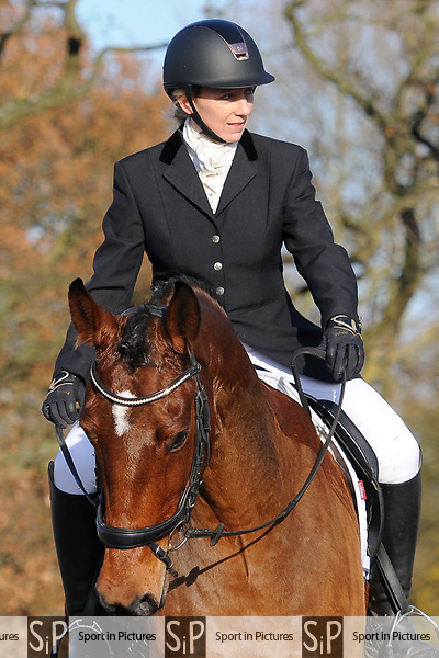 Stapleford Abbotts. United Kingdom. 30 November 2019. Class 5. Unaffiliated dressage. Brook Farm training centre. Stapleford Abbotts. Essex. UK. Credit Ellen Szalai/Sport in Pictures.~ 30/11/2019.  MANDATORY Credit Ellen Szalai/SIP photo agency - NO UNAUTHORISED USE - 07837 394578