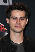 LOS ANGELES, CA, USA - APRIL 13: Dylan O'Brien in the press room at the 2014 MTV Movie Awards held at Nokia Theatre L.A. Live on April 13, 2014 in Los Angeles, California, United States. (Photo by Xavier Collin/Celebrity Monitor)