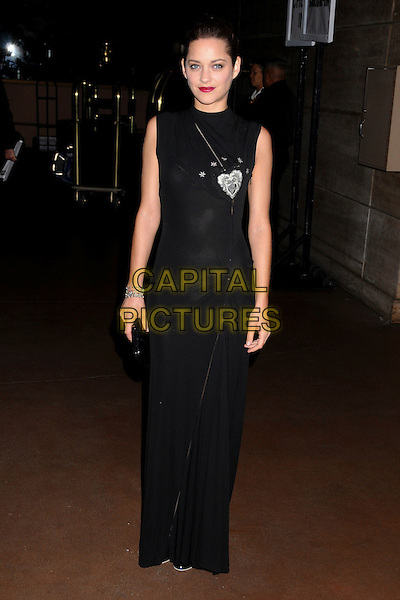 MARION COTILLARD & GUEST.33rd Annual Los Angeles Film Critics Association Awards at the InterContinental Hotel, Century City, California, USA, 12 January 2008..full length long black dress red lipstick.CAP/ADM/BP.©Byron Purvis/AdMedia/Capital Pictures.
