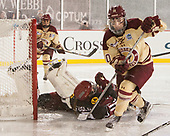 Katie Burt (BC - 33), Bradley Fusco (Harvard - 9), Kali Flanagan (BC - 10) - The Boston College Eagles defeated the Harvard University Crimson 3-1 on Tuesday, January 10, 2017, at Fenway Park in Boston, Massachusetts.The Boston College Eagles defeated the Harvard University Crimson 3-1 on Tuesday, January 10, 2017, at Fenway Park.