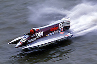 Ben Robertson (#57) USFORA Formula One (F1) Tunnel Boats, Cincinnati, Ohio 1990