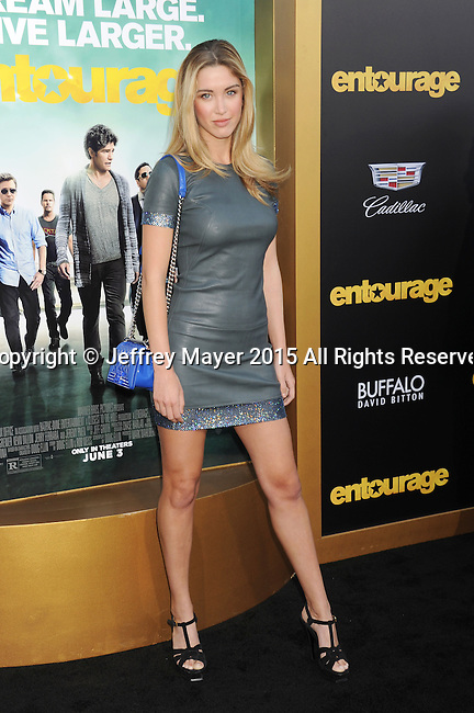 WESTWOOD, CA - JUNE 01: Actress/model Melissa Bolona arrives at the 'Entourage' - Los Angeles Premiere at Regency Village Theatre on June 1, 2015 in Westwood, California.