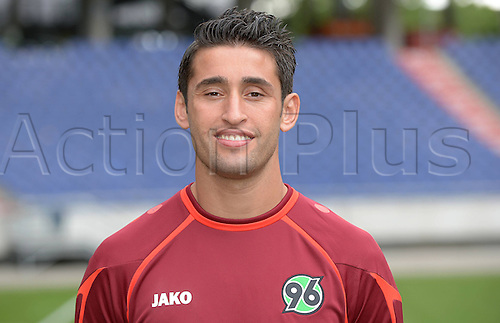 11.07.2013. Hannover, Germany.  Player Karim Haggui of German Bundesliga club Hannover 96 during the official photocall for the season 2013-14 in the HDI Arena in Hannover (Lower Saxony).