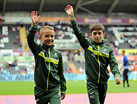 Acedemy boys during the Premier League match between Swansea City and Chelsea at The Liberty Stadium on September 11, 2016 in Swansea, Wales.