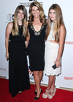 BEVERLY HILLS, CA, USA - SEPTEMBER 27: Olivia Giannulli, Lori Loughlin, Isabella Giannulli arrive at the 4th Annual American Humane Association Hero Dog Awards held at the Beverly Hilton Hotel on September 27, 2014 in Beverly Hills, California, United States. (Photo by Xavier Collin/Celebrity Monitor)