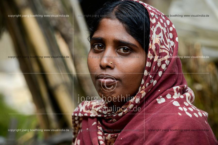 BANGLADESH,  District Tangail, Kalihati, portraiture of young woman/ BANGLADESCH, Distrikt Tangail, Kalihati, Frau Rina Akthar, 23 Jahre, im Dorf Bhuiyan Kammakhi