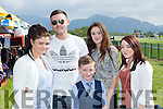 Alanna Poff, Jared Counihan, Joseph, Grainne and Shirley Poff Milltown enjoying the sun at the Killarney Races on Sunday