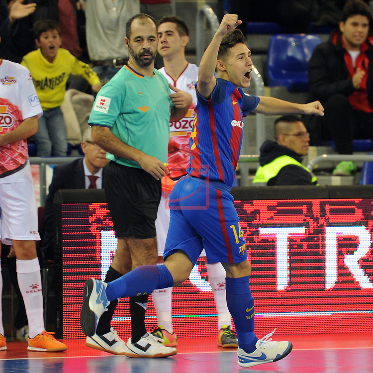 League LNFS 2016/2017 - Game 8.<br /> FC Barcelona Lassa vs ElPozo Murcia: 2-3.<br /> Roger Serrano.