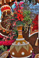 Donate Life Float Rose Parade, © David Zanzinger. Floats for the New Year's Day Tournament of Roses Parade evolved from flower-decorated horse carriages into floats. The floats are required to be covered with plant material, living or dead. Visit http://david-zanzinger.artistwebsites.com/ for galleries
