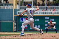Midland RockHounds pitcher Daulton Jefferies (41) during a Texas League game against the Frisco RoughRiders on May 22, 2019 at Dr Pepper Ballpark in Frisco, Texas.  (Mike Augustin/Four Seam Images)