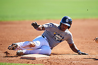 San Diego Padres second baseman Eguy Rosario (1) during an Instructional League camp day on October 4, 2016 at the Peoria Sports Complex in Peoria, Arizona.  (Mike Janes/Four Seam Images)