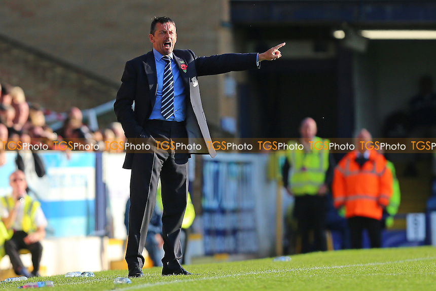 Southend United manager Phil Brown during Southend United vs Shrewsbury Town, Sky Bet EFL League 1 Football at Roots Hall on 29th October 2016