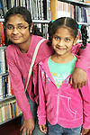 Darshini Narain and Bhimarikah at Childrens Story Tme in Drogheda Library...Picture Jenny Matthews/Newsfile.ie