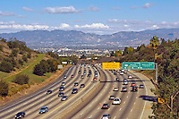 San Fernando Valley, 405 Freeway, traffic, Roar Signs, Beautiful Clear Day