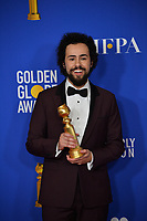 LOS ANGELES, USA. January 05, 2020: Ramy Youssef in the press room at the 2020 Golden Globe Awards at the Beverly Hilton Hotel.<br /> Picture: Paul Smith/Featureflash