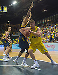 02.06.2019, EWE Arena, Oldenburg, GER, easy Credit-BBL, Playoffs, HF Spiel 1, EWE Baskets Oldenburg vs ALBA Berlin, im Bild<br /> Rashid MAHALBASIC (EWE Baskets Oldenburg #24 ) Johannes TIEMANN (ALBA Berlin #32 )<br /> <br /> Foto © nordphoto / Rojahn