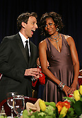 First Lady Michelle Obama chats with Seth Meyers of Saturday Night Live at the start of the annual White House Correspondent's Association Gala at the Washington Hilton Hotel, Washington, DC, Saturday, April 30, 2011..Credit: Martin Simon / Pool via CNP