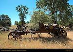 Antique Farm Equipment, Farm Field, Mariposa, California