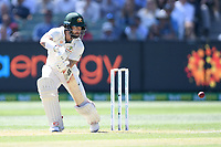 26th December 2019; Melbourne Cricket Ground, Melbourne, Victoria, Australia; International Test Cricket, Australia versus New Zealand, Test 2, Day 1; Matthew Wade of Australia hits the ball - Editorial Use