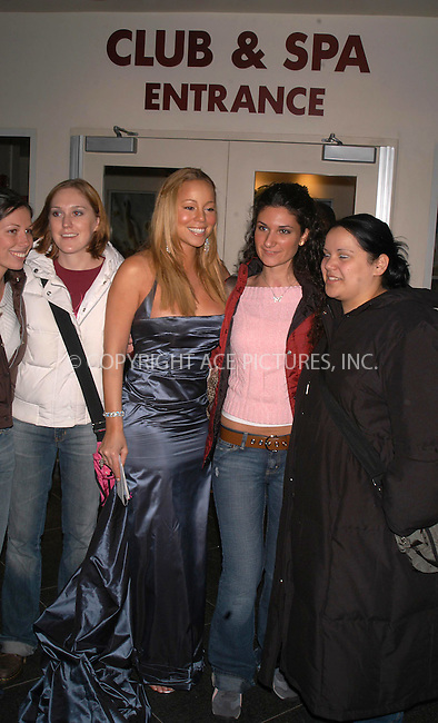 mariah carey's and fans at fresh air fund benefit.    bocklet.