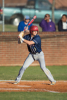 Conner Heyn (5) of the Mallard Creek Mavericks at bat against the Glenn Bobcats at Dale Ijames Stadium on March 22, 2017 in Kernersville, North Carolina.  The Bobcats defeated the Mavericks 12-2 in 5 innings.  (Brian Westerholt/Four Seam Images)