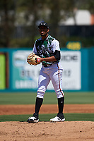 Lake Elsinore Storm starting pitcher Ronald Bolanos (16) during a California League game against the Inland Empire 66ers on April 14, 2019 at The Diamond in Lake Elsinore, California. Lake Elsinore defeated Inland Empire 5-3. (Zachary Lucy/Four Seam Images)
