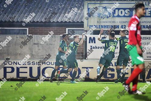 2016-11-26 / Voetbal / Seizoen 2016-2017 / Sint Lenaarts - Eppegem / St-Lenaarts viert de 1-0<br /> <br /> ,Foto: Mpics.be